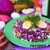 Салат из картошки,капусты и маринованных огурцов