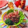 Салат из пшеничной крупы,овощей и яблок