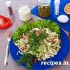 Салат из капусты, горошка, яиц и перца