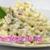 Как приготовить салат Оливье с мясом и горошком