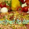 Пицца ассорти с грибами, мясом, беконом, ананасом
