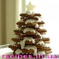 Новогодняя ёлка из печенья