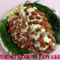 Рецепт новогоднего салата «Шишка»