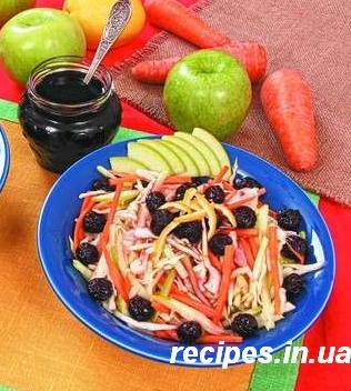 Салат: морковь, яблоко, капуста