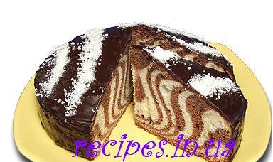 Как приготовить рецепт торта зебра