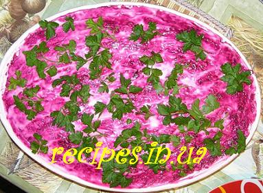 рецепт салата под шубой с огурцом