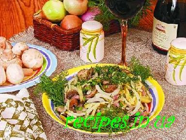 рецепты салатов из ветчины и маринованных огурцов