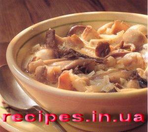 Итальянский суп с грибами