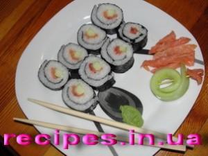 Роллы с форелью и лососем