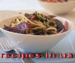 Вкусные спагетти с соусом