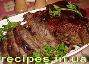 Говядина запеченная в духовке в рукаве рецепт