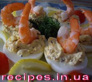 Праздничная закуска с креветками