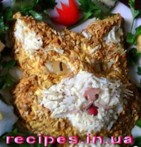 """Рецепт салата """"Кот"""""""