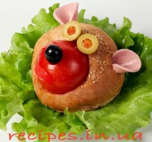 Праздничная булочка