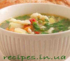 Рецепт супа с клёцками