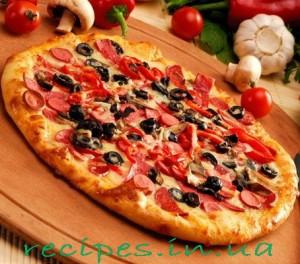 Слоеная пицца с оливками