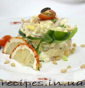салат кальмары яйца рецепты приготовления