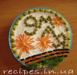 Рецепт приготовления салата на 9 Мая