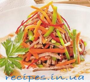 Рецепт приготовления салата из болгарского перца