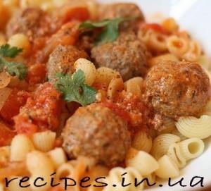 Рецепт тефтелей с подливкой из томатного соуса