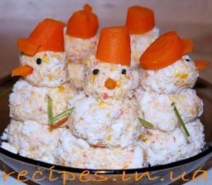Рецепт снеговиков для праздника Нового года