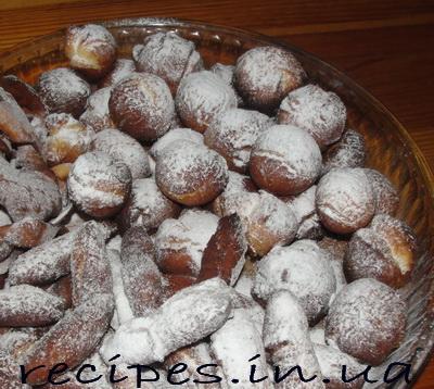 Рецепт приготовления пончиков с сахарной пудрой