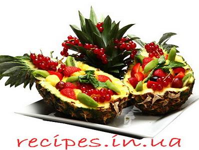Оформление нарезки фруктов на стол