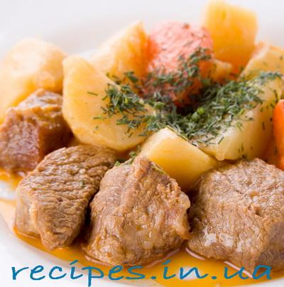 Рецепт жаркого со свининой и с картошкой по-домашнему