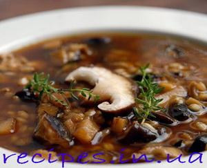 Вкусный суп из сушёных грибов