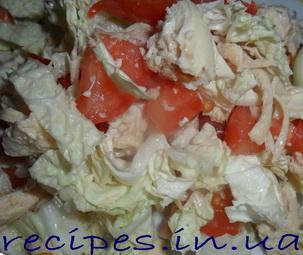 Сытный низкокалорийный салат