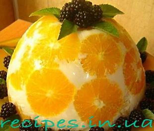 """Оригинальный желейный десерт """"Апельсин"""""""